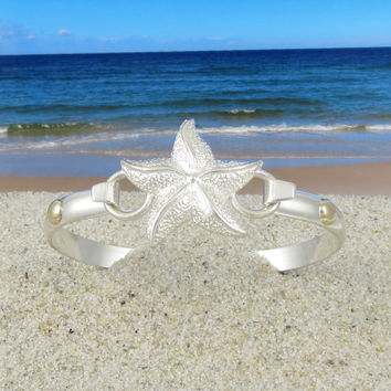 Cape Cod Convertible Starfish Bracelet Sterling Silver with 14k Gold Accents