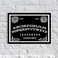 20% off until Halloween coupon code: fall20, Ouija Board inspired poster, Art Print, Halloween, Gift Ideas
