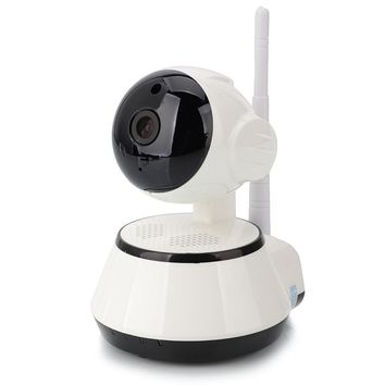 1MP 720P 3.6mm Wide-angle Lens 5-6m Night Sight Wireless WIFI Indoor Camera White