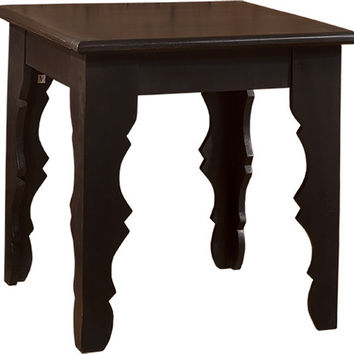 5727 Keegan End Table - Distressed Black Finish - Free Shipping!