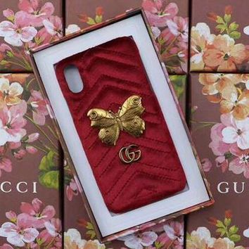 GUCCI Fashion Trending Cortex iPhone Phone Cover Case For iPhone X I Phone 8 I Phone 8Plus Red G