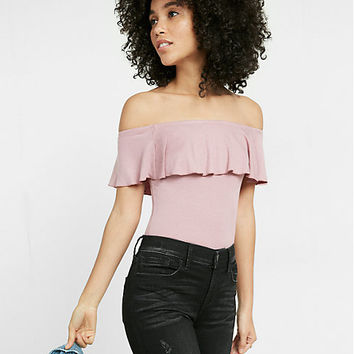 off the shoulder thong bodysuit