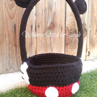Mickey Mouse Basket -- Halloween or Easter -- Made to Order