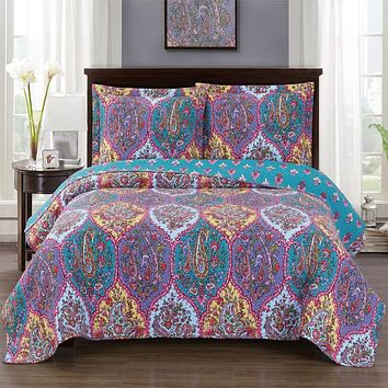 Viola Oversized Quilted Coverlet set