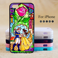 Beauty and the Beast,iPhone 5 case,iPhone 5C Case,iPhone 5S Case, Phone case,iPhone 4 Case, iPhone 4S Case,Case-IP002Cal
