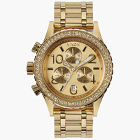Nixon 38-20 Chrono Watch All Gold Crystal One Size For Men 25938762101