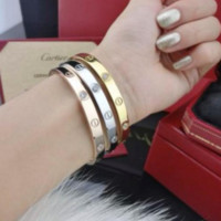 """Cartier""Women Men Trending Fashion Bracelet Screw Bracelet Lovers Bracelet Golden G"