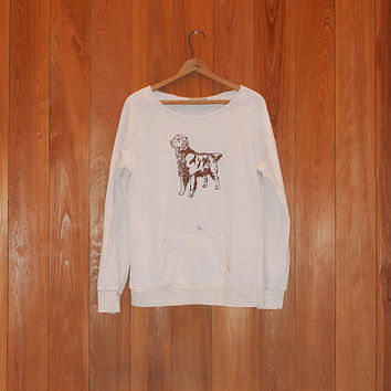 SALE sweatshirt, golden retriever shirt, size large