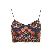 Embroidered Bralet - Multi