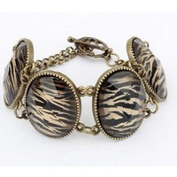 # Free Shipping # Elliptic Leopard Grain Bracelet HSP44122 from ViwaFashion