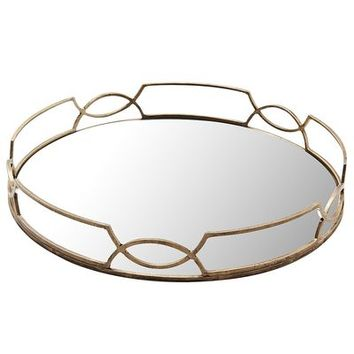Elana Mirrored Tray