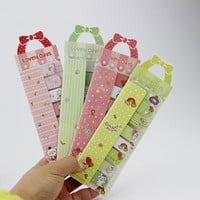 1pcs Office Supplies Cartoon Animals Mini Sticky Memo Pad Bow N Times Sticky Notes Memo Escolar