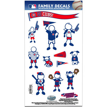 Chicago Cubs Family Decal Set Medium