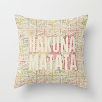TATA HAKUNA MATATA  Throw Pillow by VisualPonderland | Society6