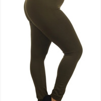 Plus Fleece Lined Leggings