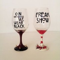 American Horror Story Wine Glass Set