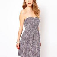 By Zoe Strapless Printed Dress