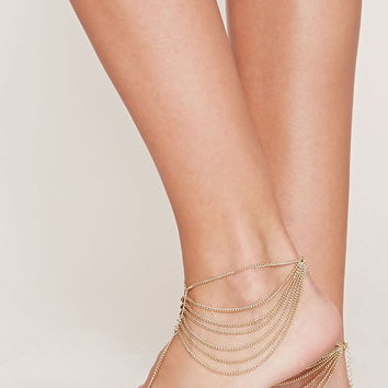 Draped Foot Chain Set