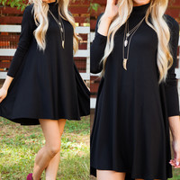 Randi Shift Dress - Black