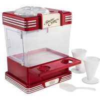 Nostalgia RSM602 Retro Series Snow Cone Maker with Snow Cone Cups & Shaved Ice Storage