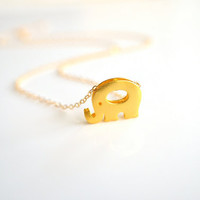 Elephant Necklace in Gold - Lucky Elephant