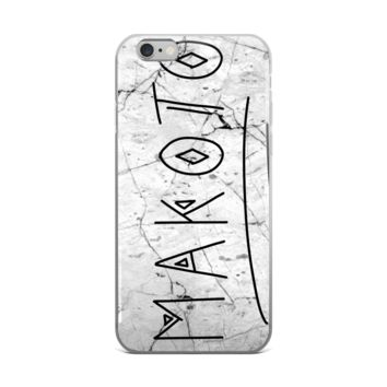 "Makoto ""Fake"" White Marble Case for Iphone 6"