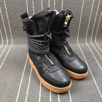 Newest Nike Sf Air Force 1 High Af1 Hi Black Functional Boots Aa3965 001
