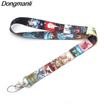 M1504 Dongmanli 2018 new necklace Alice in Wonderland lanyard Strap Neck for keys ID Card USB badge