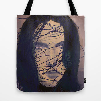 THE GIRL Tote Bag by IN LIMBO ART | Society6