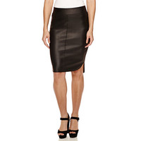 Bisou Bisou® Faux-Leather High-Low Skirt