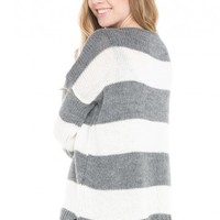 Brandy ♥ Melville |  Sage Striped Sweater - Clothing