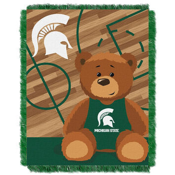 Michigan State Spartans NCAA Triple Woven Jacquard Throw (Fullback Baby Series) (36x48)