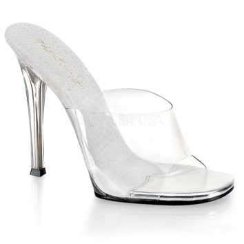 "Gala 101 Clear Upper Slide 4.5"" Heel"