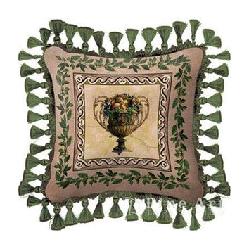 Fine Art Tapestries Home Decorative Frutti D'Estate Cotton Pillow