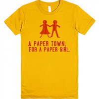 A Paper Town For A Paper Girl Book Movie T Shirt