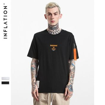 HCXX INFLATION Men MA1 Style Pilot Zipper Pocket T shirt