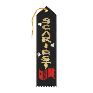 "Beistle Halloween Celebration Birthday Party Scariest Costume Award Ribbon 2"""" x 8"""" Pack of 6"