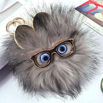 Fur Pom Pom Rabbit Key Chain