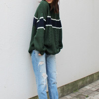 Dark Green Club Sweater