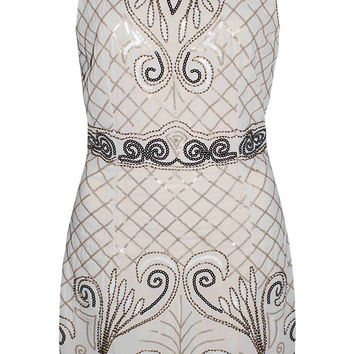 Gatsby Beige Sequin Dress