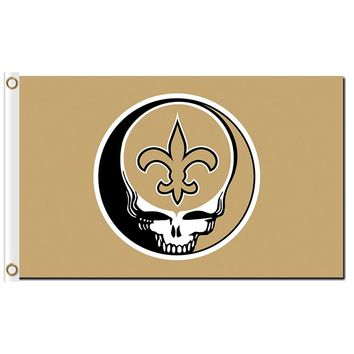New Orleans Saints Stealing Your Face flag 90x150cm polyester Custom banner with 2 Metal Grommets 3x5ft