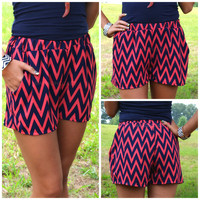 Wave Maker Coral Chevron Shorts