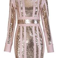 'Ravetta' Sequined Bandage Dress - Pink