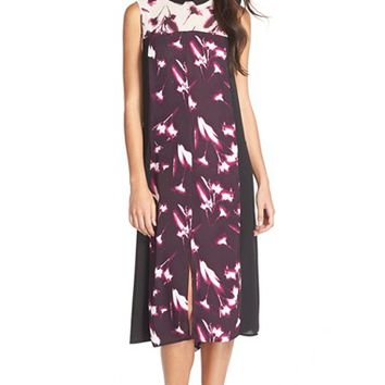 Women's BCBGMAXAZRIA Collared Georgette Midi Dress,