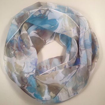 Spring, Summer Lightweight Infinity Scarf, Loop Scarf, Circle Scarf, Birthday Gift, Mother's Day