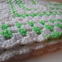 Baby Afghan or Lap Blanket - Handmade Crochet - Ready to Ship