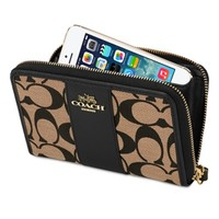 Coach Signature Zip-Around Wallet for iPhone