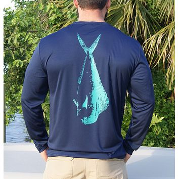 Navy Mahi UPF Dry Fit Long Sleeve Tee