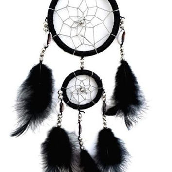 Hot Sale Ring Black Dream Catcher [6284168070]