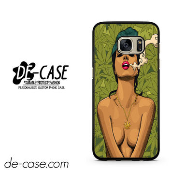 Girl Smoking Weed Art Marley Blunt Sexy DEAL-4690 Samsung Phonecase Cover For Samsung Galaxy S7 / S7 Edge